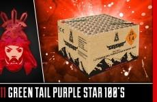 1611 Green Tail to Purple Stars – Geisha – Vuurwerkmania